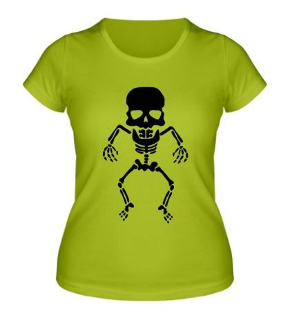 Женская футболка Скелет малыша