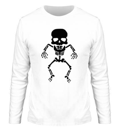 Мужской лонгслив Скелет малыша