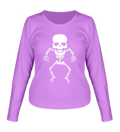 Женский лонгслив Скелет малыша