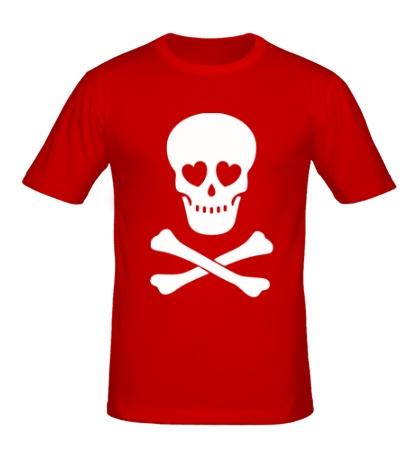 Мужская футболка Череп влюбленного