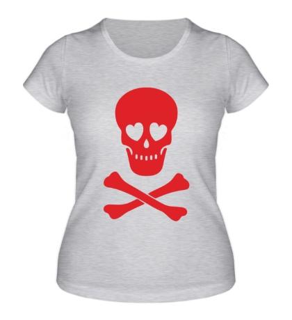 Женская футболка Череп влюбленного