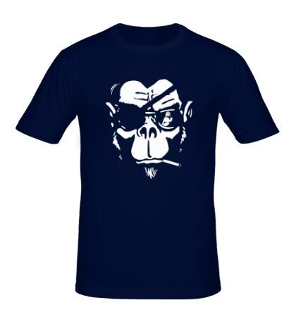 Мужская футболка Горилла-пират