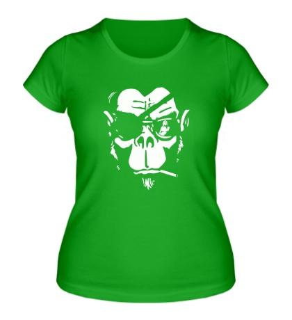 Женская футболка Горилла-пират