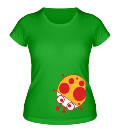Женская футболка Глазастая божья коровка