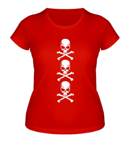 Женская футболка Адские черепа