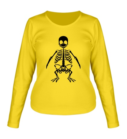 Женский лонгслив Скелет пингвина