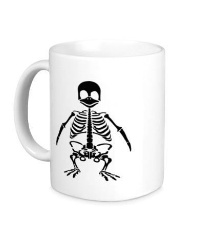 Керамическая кружка Скелет пингвина