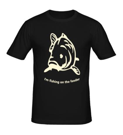Мужская футболка Fishing of the Feeder Glow