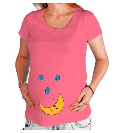 Футболка для беременной Веселый месяц