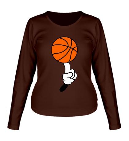 Женский лонгслив Гуру баскетбола