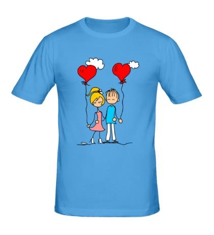 Мужская футболка Влюбленные