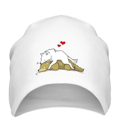 Шапка Влюбленные волки