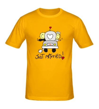 Мужская футболка I do just married