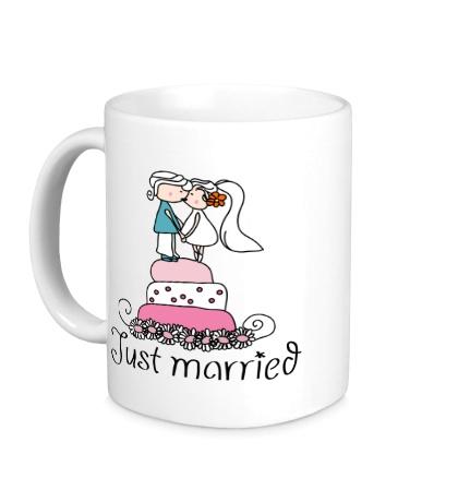 Керамическая кружка Свадебный торт