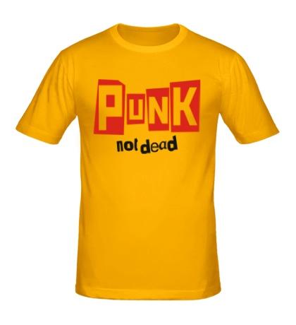 Мужская футболка Punk not Dead Text
