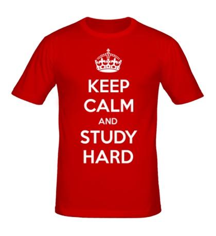 Мужская футболка Keep calm and study hard