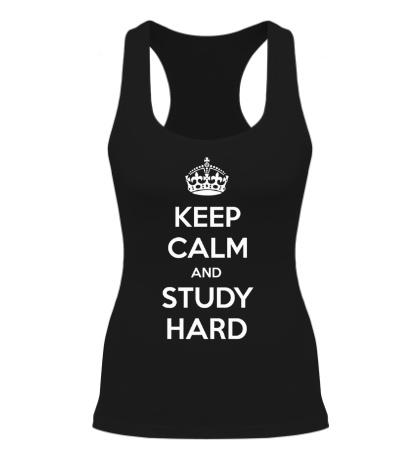 Женская борцовка Keep calm and study hard