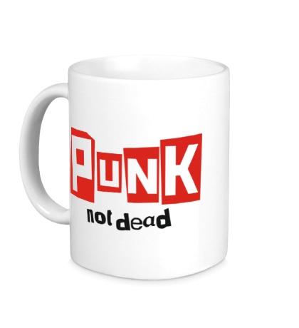 Керамическая кружка Punk not Dead Text