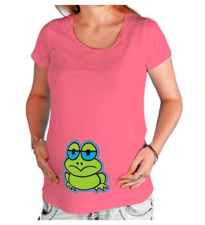 Футболка для беременной Лягушонок