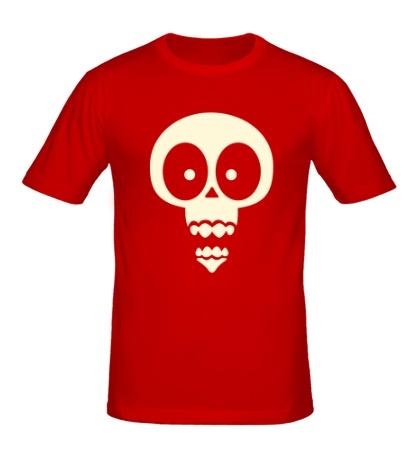 Мужская футболка Череп мартышки, свет