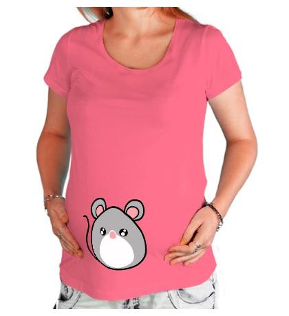 Футболка для беременной Маленькая мышка