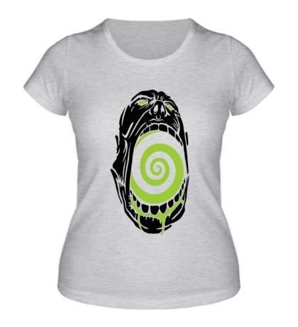 Женская футболка «Гипноз черепа»