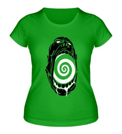 Женская футболка Гипноз черепа