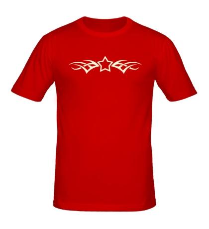 Мужская футболка Тату-звезда, свет