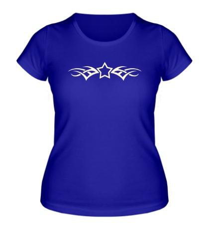 Женская футболка Тату-звезда, свет