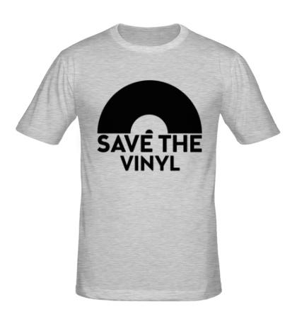 Мужская футболка Save the vinyl