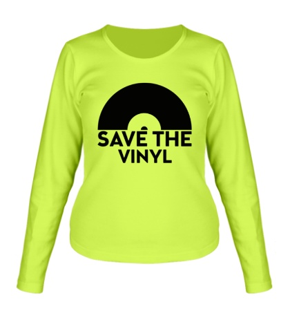 Женский лонгслив Save the vinyl