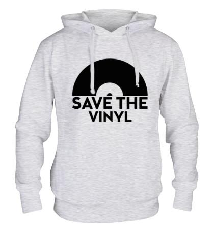 Толстовка с капюшоном Save the vinyl