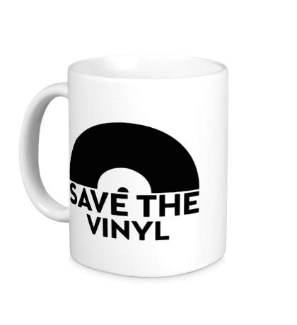 Керамическая кружка Save the vinyl