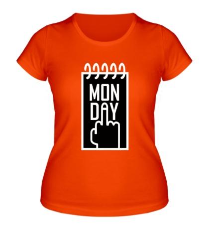 Женская футболка Понедельник, Monday