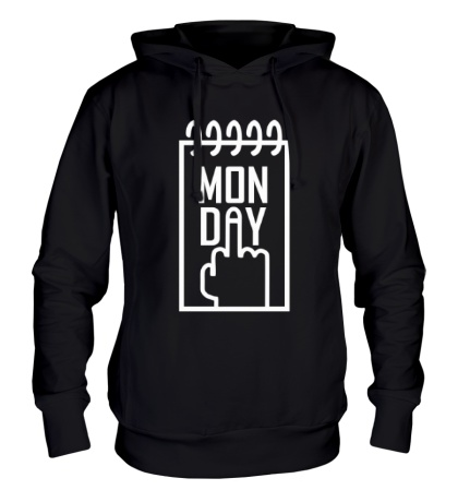 Толстовка с капюшоном Понедельник, Monday