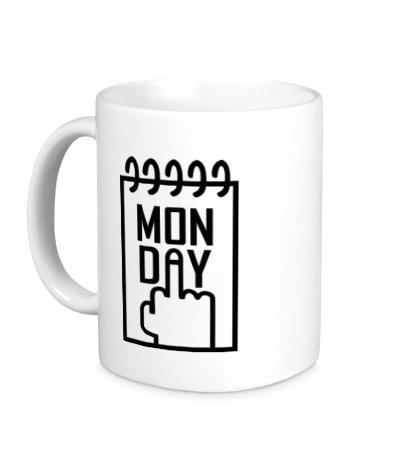 Керамическая кружка Понедельник, Monday