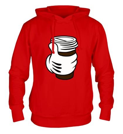 Толстовка с капюшоном I like coffee