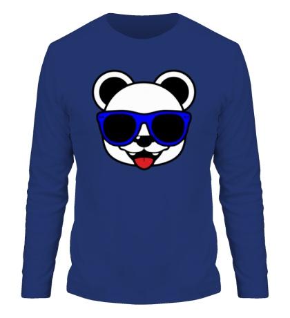Мужской лонгслив Веселая панда в очках