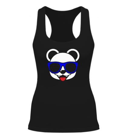 Женская борцовка Веселая панда в очках