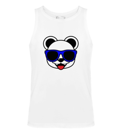Мужская майка Веселая панда в очках