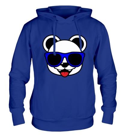 Толстовка с капюшоном Веселая панда в очках