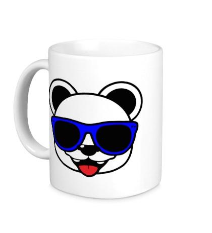 Керамическая кружка Веселая панда в очках