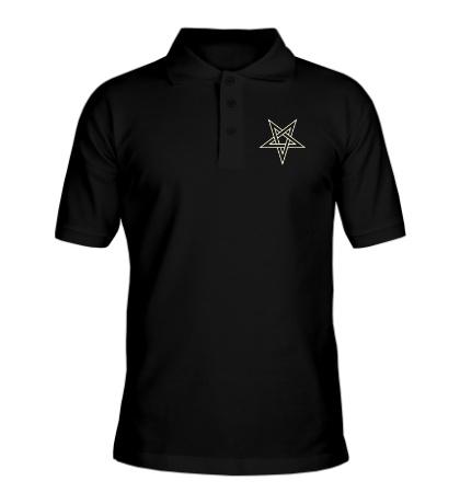Рубашка поло Звезда-пентаграмма, свет
