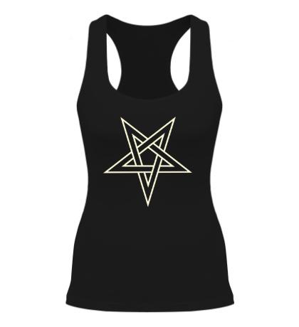 Женская борцовка Звезда-пентаграмма, свет