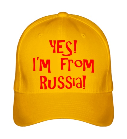 Бейсболка Yes! Im from Russia