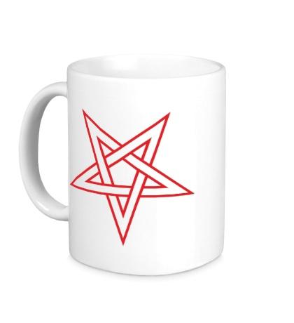 Керамическая кружка Звезда-пентаграмма