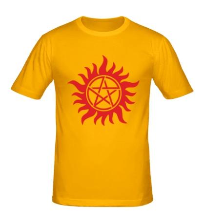 Мужская футболка Огненная пентаграмма