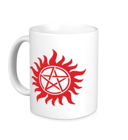 Керамическая кружка Огненная пентаграмма