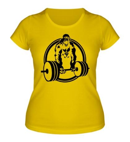 Женская футболка Горилла со штангой