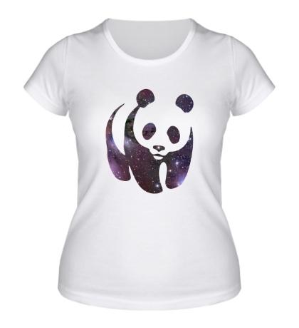 Женская футболка Космическая панда